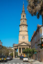Historic charleston south carolina october church street is a popular tourist attraction in the french quarter district on october Stock Photos