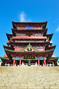 Historic chinese building tengwang pavilion is a famous in china its m clear height of the main the construction area of square Stock Photography