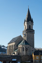 Historic church of haslach most significant late gothic in above the danube in upper austria Stock Photography