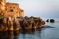 Historic city of Cefalu, mediterranean sea