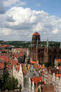 Historic city gdańsk panorama of on the baltic sea Stock Images