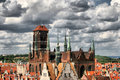 Historic city gdańsk panorama of on the baltic sea Royalty Free Stock Photography