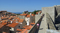 Historic city wall of Dubrovnik. Royalty Free Stock Photo