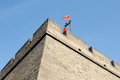 Historic city wall of Xian, China Royalty Free Stock Image
