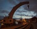 Historic Crane at Bristol Dockyard, England Royalty Free Stock Photo