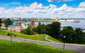 Historic district of Nizhny Novgorod Stock Image