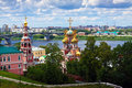 Historic district of Nizhny Novgorod Royalty Free Stock Photos