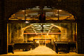 Historic downtown charleston market at night south carolina photographed christmas Stock Image