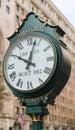 Historic F Street Clock in Washington DC Royalty Free Stock Photo