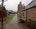 historic Fishing village in Aberdeen Scotland Royalty Free Stock Photography