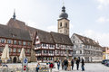 Historic forchheim germany april tourists in the town of germany on april the city is over years old foto taken from Royalty Free Stock Photos