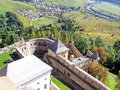Historic fortified castle of the kings photograph in time for tourism history shows stone fortifications on territory slovakia Royalty Free Stock Image