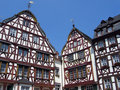 Historic German house with wood and ornamentation Royalty Free Stock Photos