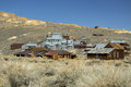 Historic gold mill in bodie state park the ghost town of california Royalty Free Stock Photography
