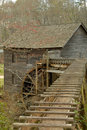 Historic grist mill with waterwheel Royalty Free Stock Photos