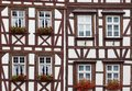 Historic half-timbered houses in  Germany Stock Image