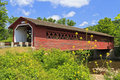Henry Covered Bridge in Bennington, VT Royalty Free Stock Photo