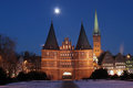 Historic Holsten Gate at Lübeck Royalty Free Stock Photography