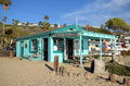 Historic home in the Crystal Cove State Park. Royalty Free Stock Photo