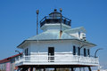 Historic hooper straits lighthouse on the chesapeake bay restored Stock Photo