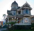 Historic house in alameda ca newly redecorated victorian california tasetful combination of shades of cream green white lots of Royalty Free Stock Photography