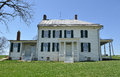 Historic house antietam national battle field with skyline background Royalty Free Stock Images