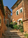 Historic houses and alleyway in fornalutx majorca house facades stairway the ancient village Stock Image
