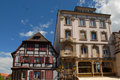 Historic Houses in Colmar Stock Images