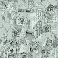 Historic italian architecture collage seamless pattern is with sketch drawings of monuments illustration is in eps mode Stock Photography