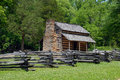 Historic landmark cabin Stock Photography