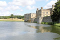 Historic leeds castle side view of the hstoric uk Stock Photos