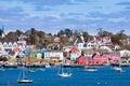 Historic Lunenburg harbor Nova Scotia NS Canada Royalty Free Stock Photo