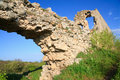 Historic Mangup Kale fortress stony walls (Crimea) Stock Images