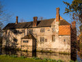 Historic manor house on an english country estate scenic view of the th century and moat the baddesley clinton warwickshire Stock Images