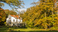 Historic mansion old in the netherlands in autumn Stock Photos