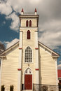 Historic mitchells virginia presbyterian church building in the greek revival style Stock Photo