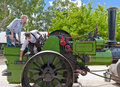 Historic Noyes Bros steam roller in Echuca. Royalty Free Stock Photo