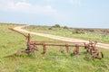 Historic old plow at Matjiesfontein farm Royalty Free Stock Photo
