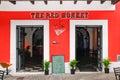 Historic Old San Juan - The Red Monkey Bar Royalty Free Stock Photo