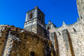 The Historic Old West Spanish Mission Concepcion, Established 1716, San Antonio, Texas. Royalty Free Stock Photo