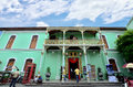 Historic pinang peranakan mansion in georgetown penang malaysia december there are some tourists visiting and exploring around the Royalty Free Stock Photography
