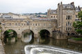 Historic pulteney bridge bath england th century Stock Photos