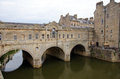 Historic pulteney bridge bath england th century Stock Photography