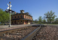 Historic railroad depot in galena illinois Stock Photography