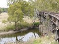The historic railway bridge at Gundagai Royalty Free Stock Images