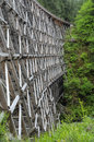 Historic railway trestle kinsol a is restored vancouver island british columbia Stock Images