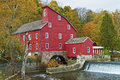 The historic red mill in clinton township in new jersey Stock Image