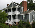 Historic Riverfront Home Royalty Free Stock Photo