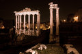Historic rome architecture roman ruins and view of the roman forum in italy Stock Photography