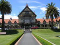 Historic Rotorua Bath House Royalty Free Stock Image